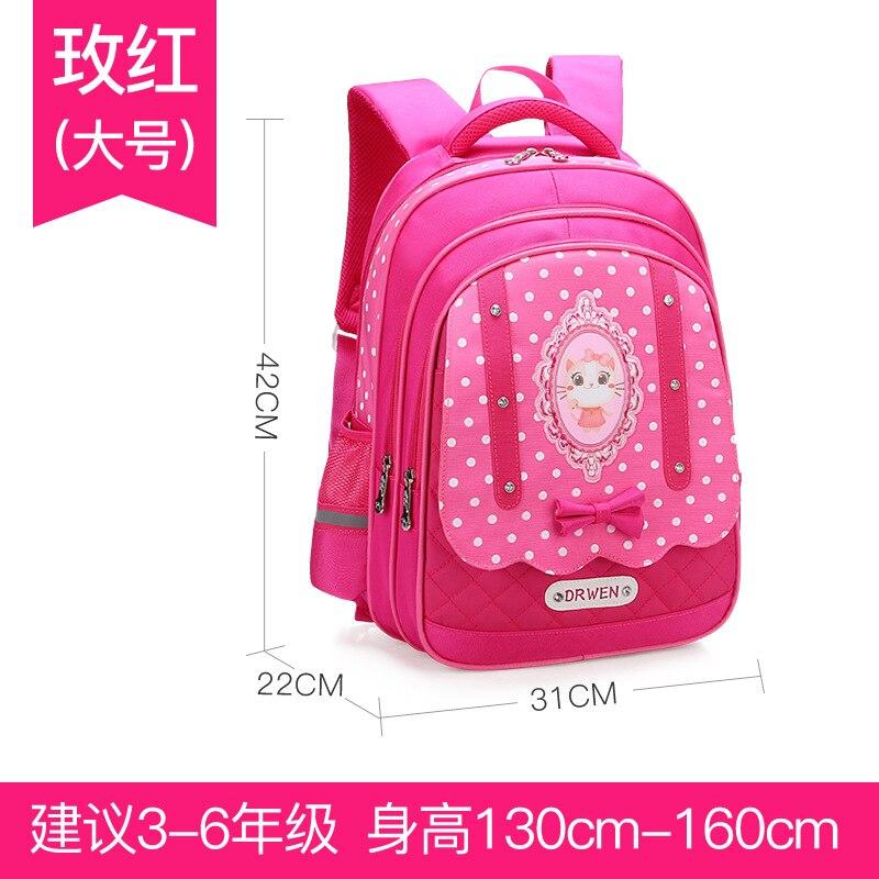 Детские школьные сумки девушки дети Портфель Основной Рюкзак принцесса ортопедический рюкзак школьный Дети Mochila Infantil SAC Enfant