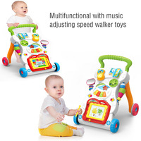 2017 New for baby walker stroller multifunction baby with music can speed walker baby rattles toys