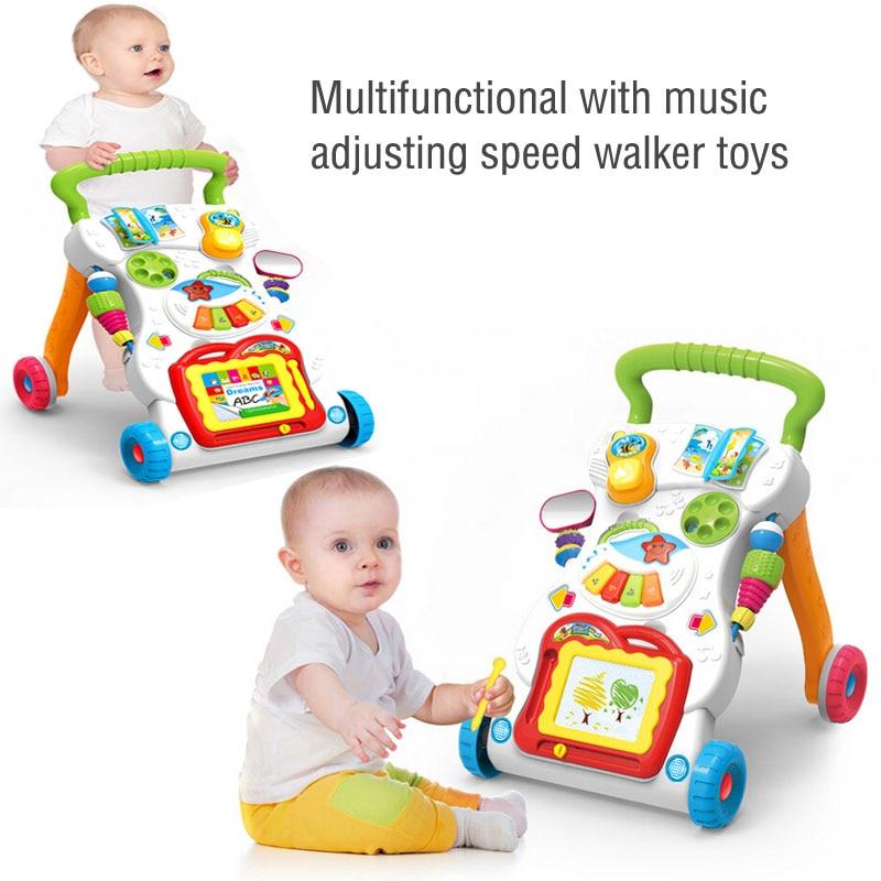 2017 nouveau pour bébé marcheur poussette multifonction bébé avec musique peut vitesse marcheur bébé hochets jouets