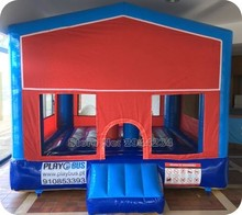 indoor trampoline/PVC customized inflatable bounce castle /customized banner inflatable bouncer