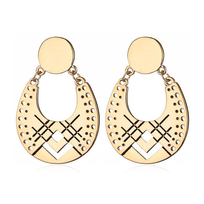 Vintage Drop Earrings for women Ethnic Types Fashion Jewelry Women Accessories Dangle Earrings Female Brincos 2018 in Drop Earrings from Jewelry Accessories