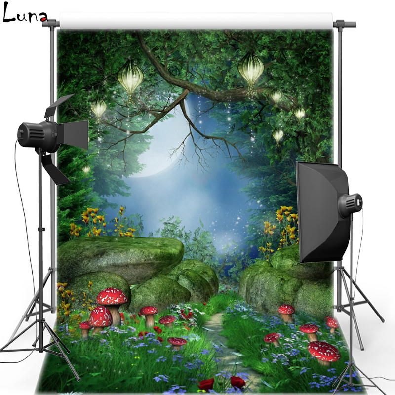 Alice in Wonderland Mushroom Vinyl Photography Background Cartoon Forest Oxford backdrop For Kids Photo studio Props F1627 christmas background pictures vinyl tree wreath gift window child photocall fairy tale wonderland camera photo studio backdrop