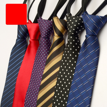2019 New Design Fashion Men Tie 5cm Narrow Slim Striped Polka Dot Solid Business Neckties Wedding Party Men Ties with Gift Box
