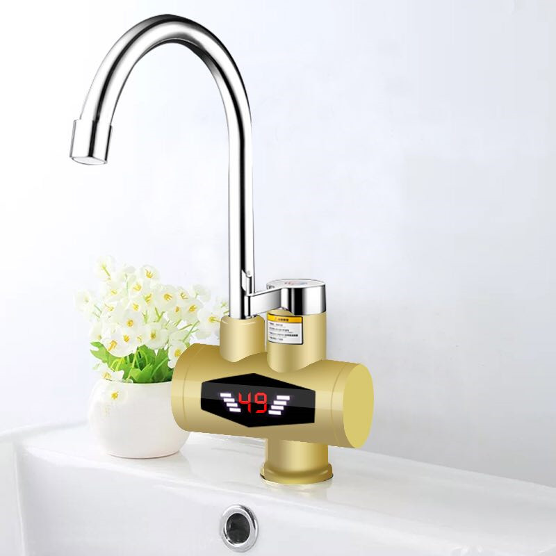 RX-015-5X,Inetant Electric Heating Water Faucet,Digital Display Instant Hot Water Tap,Fast Electric Heating Water Tap
