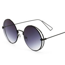 2017 Brand new round frame color film European and American trend arrows sunglasses