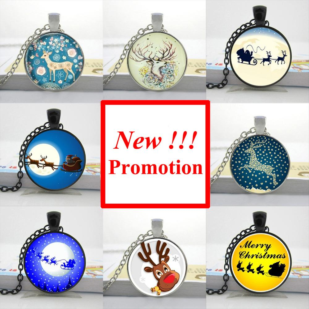 2017 New Fashion Deer Necklace Nightmare Before Christmas Pendant ...