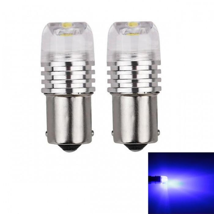 FYSZ Car BA15S LED COB 1156 P21W 3W Blue Light COB LED Stopligh Automobile Brake Light Taillight 2 PCS DC12V in Signal Lamp from Automobiles Motorcycles
