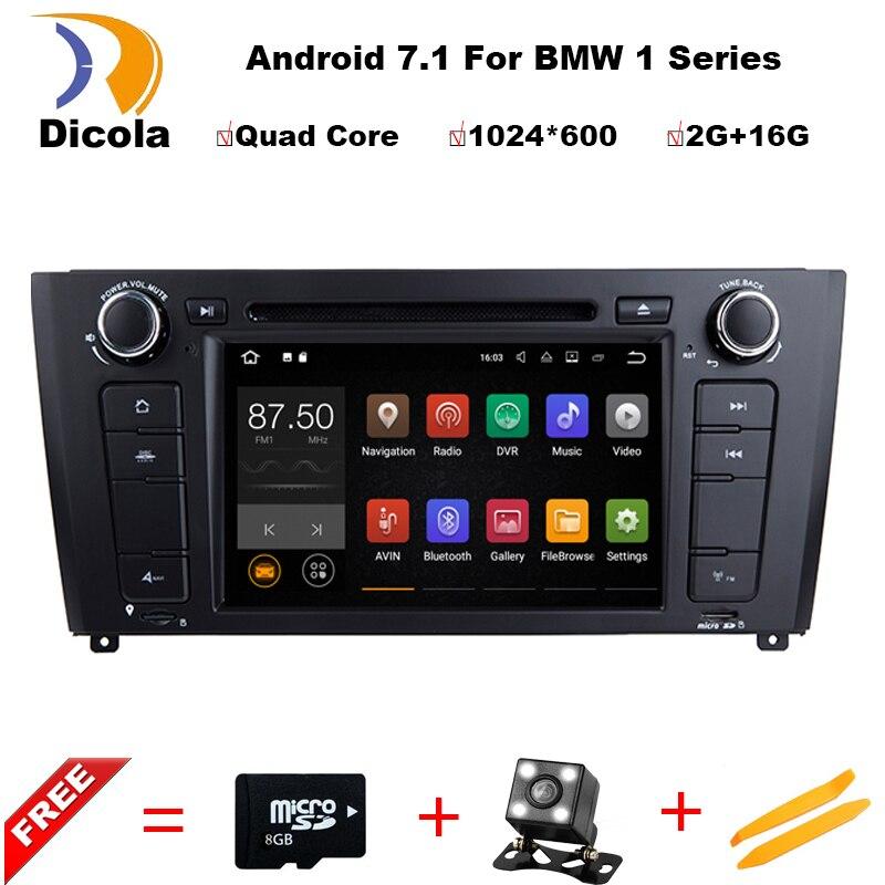 Android 7.1.1 dvd плеер автомобиля для BMW 1 серия e81/e82/E83/e88 2004 2011 Радио видео GPS навигации Мультимедиа головного устройства Стерео
