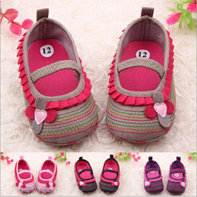 New Fashion Cotton Baby Shoes Striped Soft Sole Sho