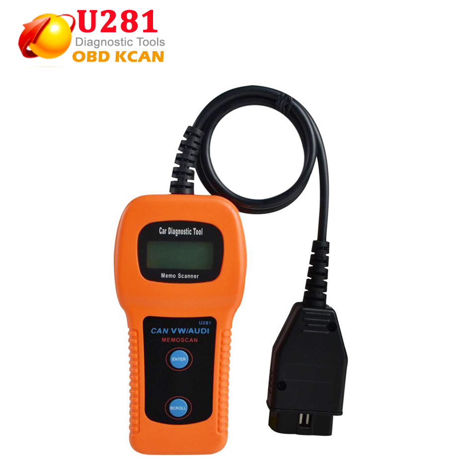 Hot Selling U281 For VW For AUDI For SEAT ABS Airbag Engine Reset Code Reader CAN BUS OBD2 Scanner Tool With Free Shipping