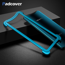 PADCOVER luxury Airbag Metal protection case For OPPO Find X personality Shell for Slim Bumper cover