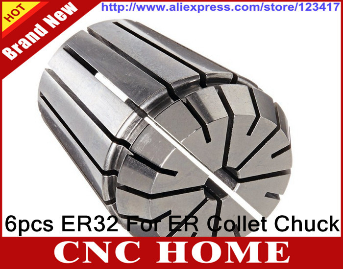 Free Shipping 6PCS for Choose ER ER32 Collet Chuck for Spindle Motor Engraving Grinding Milling Boring