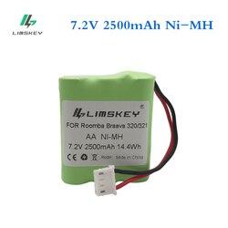 Limskey 7.2 V akumulator Ni-MH 2500mAh dla iRobot Braava 320 321 dla Mint 4200 4205 urządzenie do mycia podłogi Robot 4408927 7.2 V