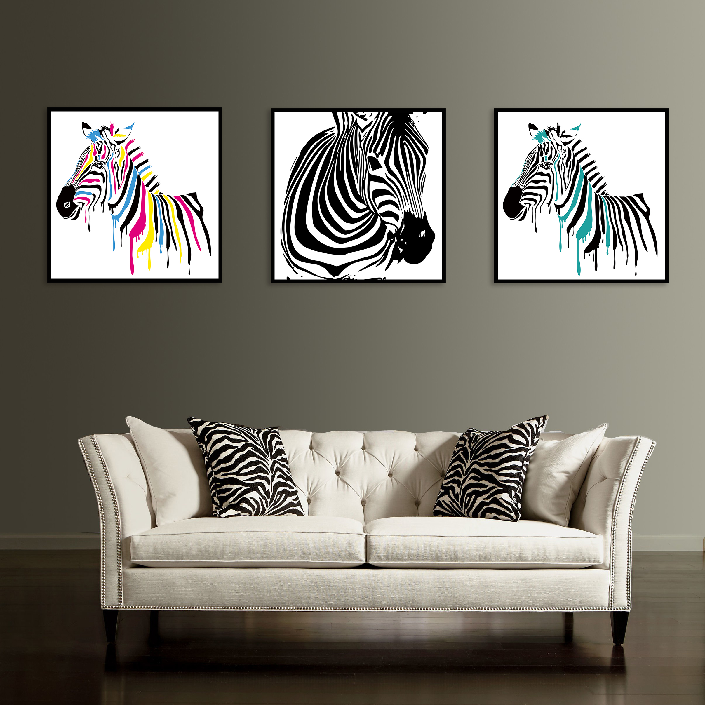 Abstract Zebra Canvas Painting Wall Posters Home Decoration Decorative Prints Living Room Modern Art Bedroom Me8763