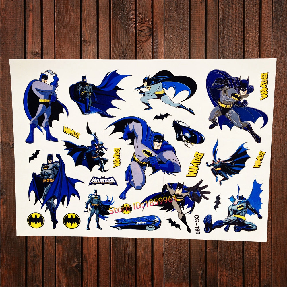 25 style batman waterproof fake flash tattoo sticker for for Superhero temporary tattoos