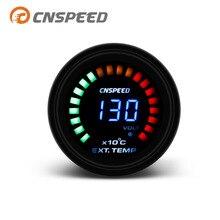 CNSPEED 52 мм Автомобильный датчик температуры выхлопных газов EGT дымовая линза с датчиком автомобильный измеритель YC101346