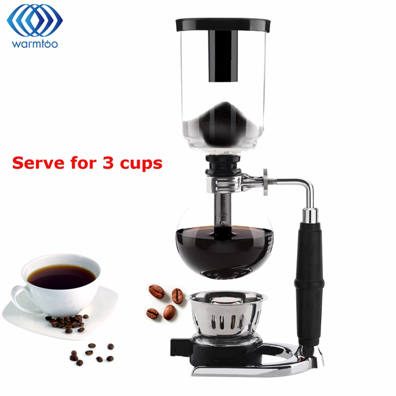Glass Siphon Coffee Maker Coffee Pot Drip Coffee Maker 3 Cups Ice Cold DripDrop Kettle Kitchen Grinding Tool High Quality dmwd japanese style siphon coffee maker tea siphon pot vacuum coffeemaker glass hydrocone type coffee machine filter 3cup 5cups