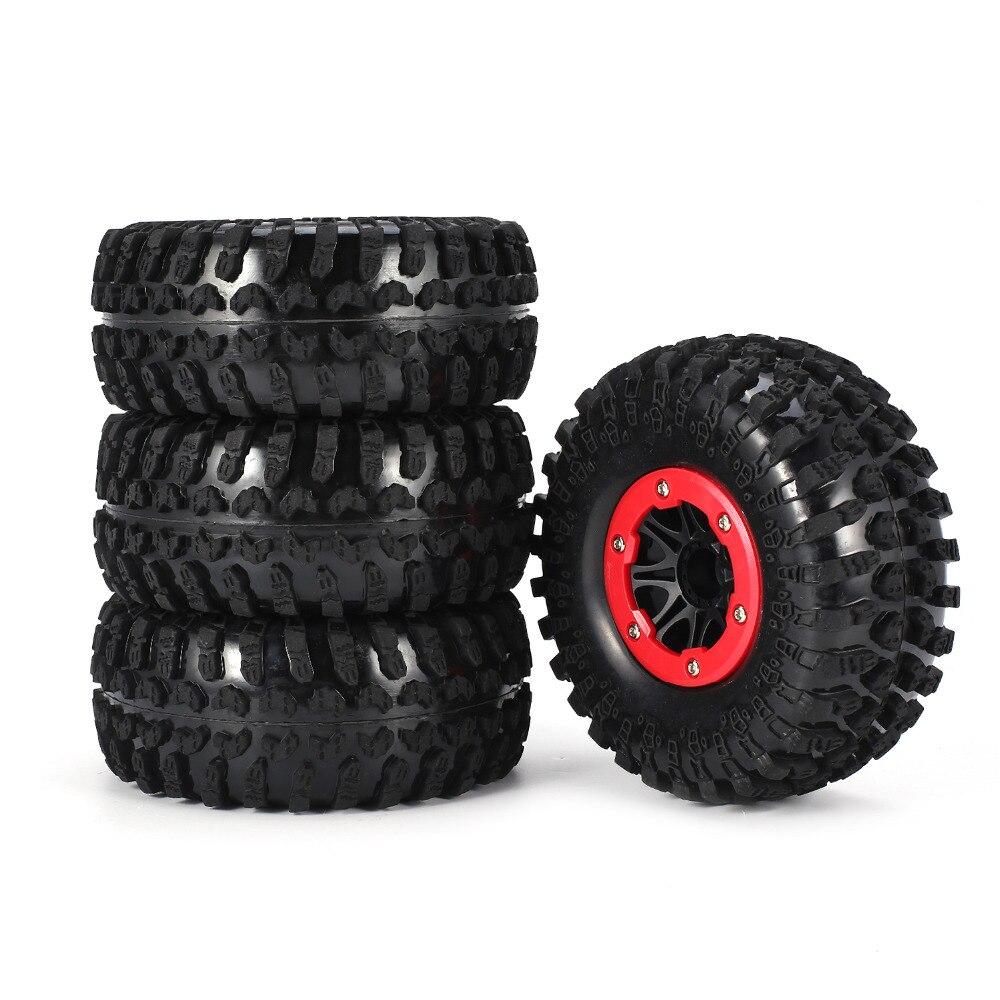 4pcs AX-3021A/B 130mm 2.2in Rim Rubber Tyre Wheel Set for Axial SCX10 RC4WD D90 1/10 RC Rock Crawler Car4pcs AX-3021A/B 130mm 2.2in Rim Rubber Tyre Wheel Set for Axial SCX10 RC4WD D90 1/10 RC Rock Crawler Car