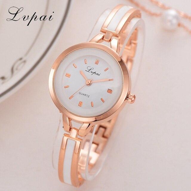 187f007d0e9 Lvpai Assista Mulheres Ouro Prata Clássico de Aço Inoxidável relógio de  Pulso Do Vintage Assistir Mulheres