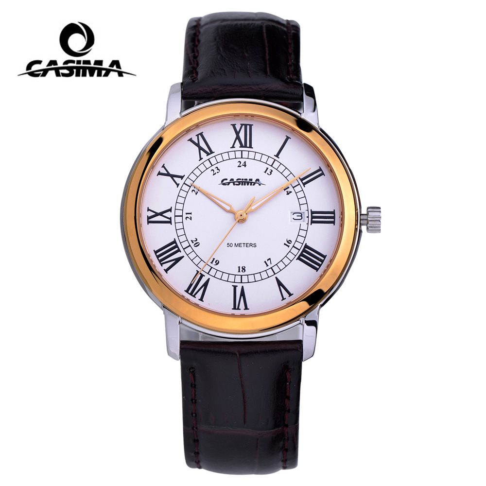 купить CASIMA Men's Fashion Business Classic Watch Dress Auto Date Watches Top Brand Luxury Waterproof Men Watch relogio masculino недорого