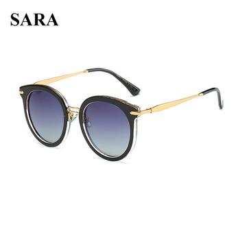 d50a922ef SARA Novo Luxo Moda Óculos De Sol Das Mulheres Do Vintage Retro Óculos  Polarizados Femininos UV400 Goggle Sunglasses Gafas de sol Feminino