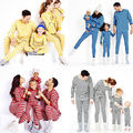 Natal Da Família Dos Homens Pijamas Pijamas Set Pijamas Roupas de Algodão Listrado