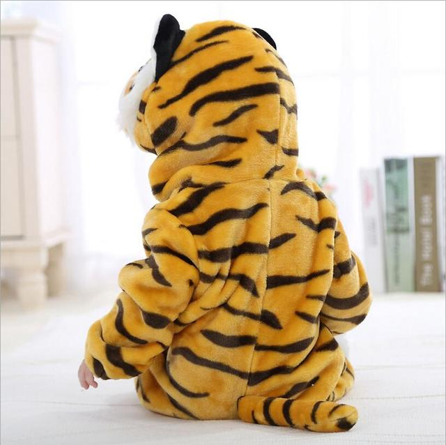 Macacão de bebê meninos meninas roupas Tigre mamelucos para bebes tigre dos desenhos animados Pijamas Crianças quentes coral fleece uma peça tigor YJY
