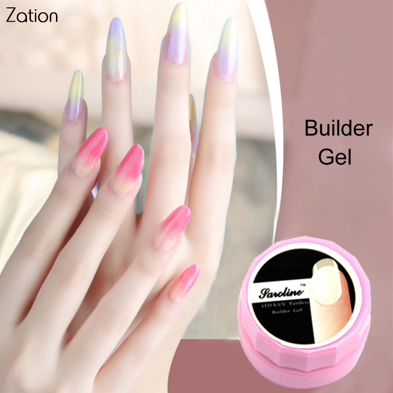 Zation Builder UV Gel Colorless Nail Gel Nail Art Polish Manicure ...