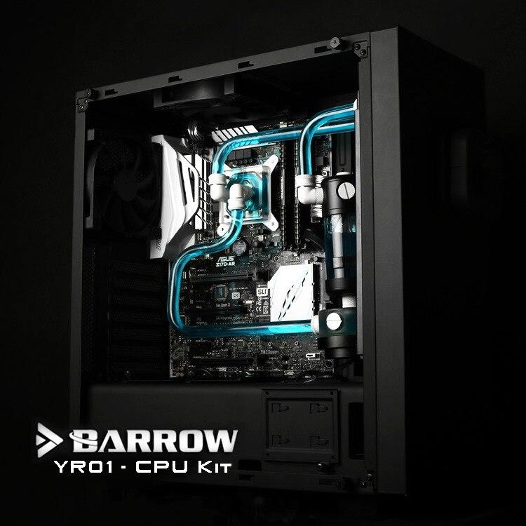 Курган YR01 Бесплатная доставка hardtubes Процессор комплект водяного охлаждения, 240 мм радиатор, Процессор блок, светодио дный вентиляторы, 130 мм ...