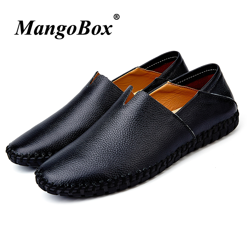 Man Casual Shoes Genuine Leather Man Loafers Flat Black White Driving Shoes for Male Large Size 38-47 Spring Autumn Loafers vesonal driving brand genuine leather casual male shoes men footwear adult 2017 spring autumn comfortable soft driving for man