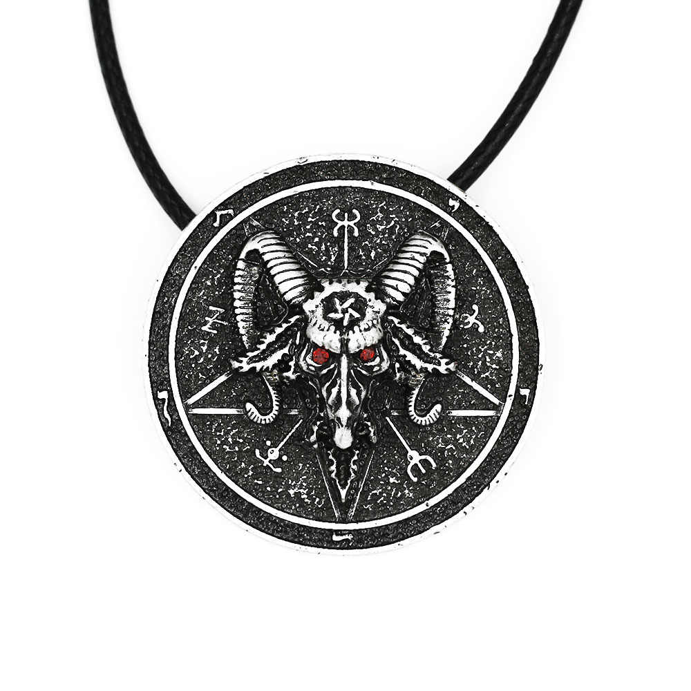 Baphomet Amulet Sabbatic Goat Necklace Pendant Protection Talisma Wiccan  Pendant Pagan Magical Ritual Jewelry Lead Free