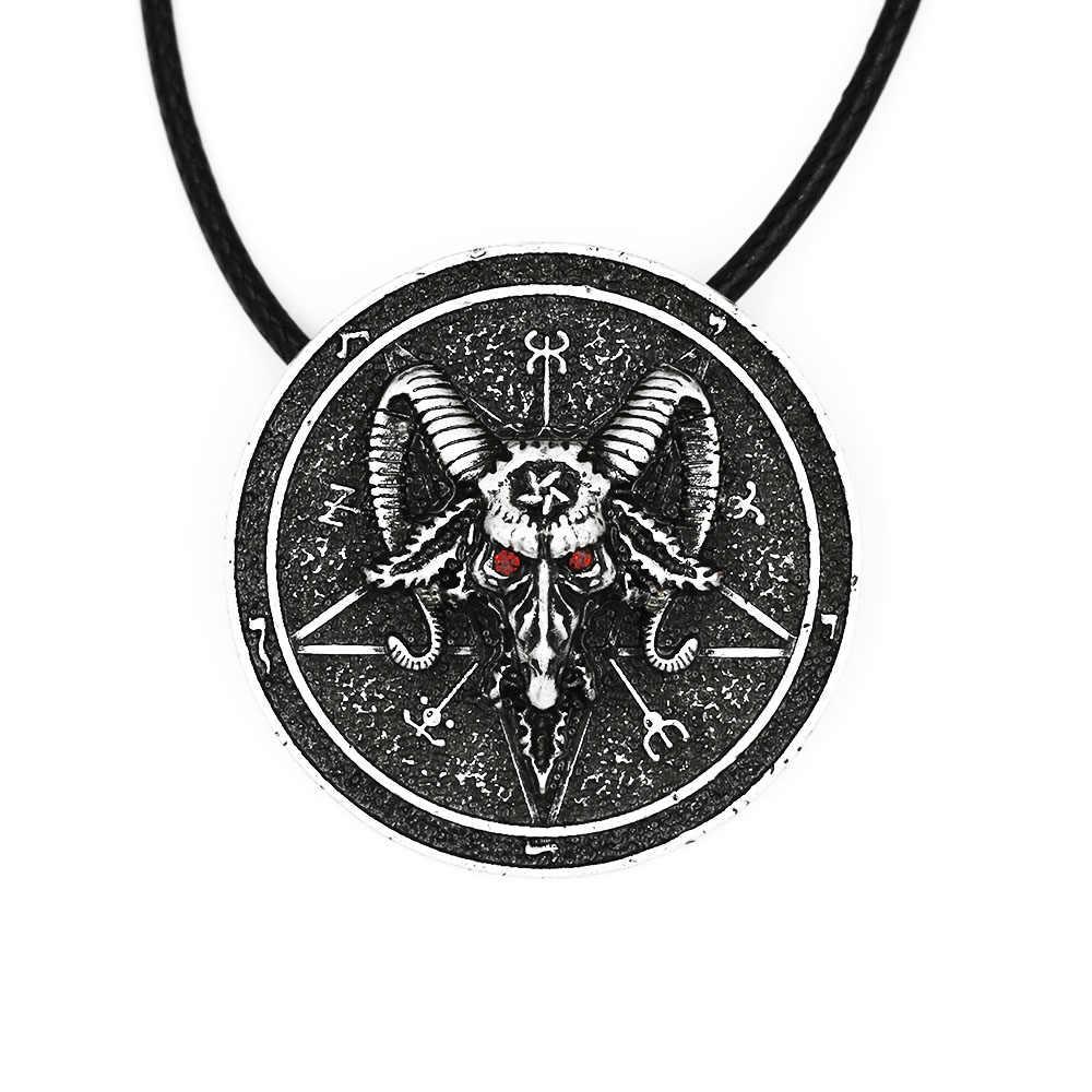 バフォメットお守り Sabbatic ヤギネックレスペンダント保護 Talisma ウィッカペンダント異教魔法儀式ジュエリー鉛フリー