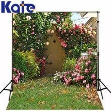 Kate foto cenário jardim cenário rústico de fundo para estúdio de fotografia de fundo de casamento pano de fundo da parede da flor do vintage