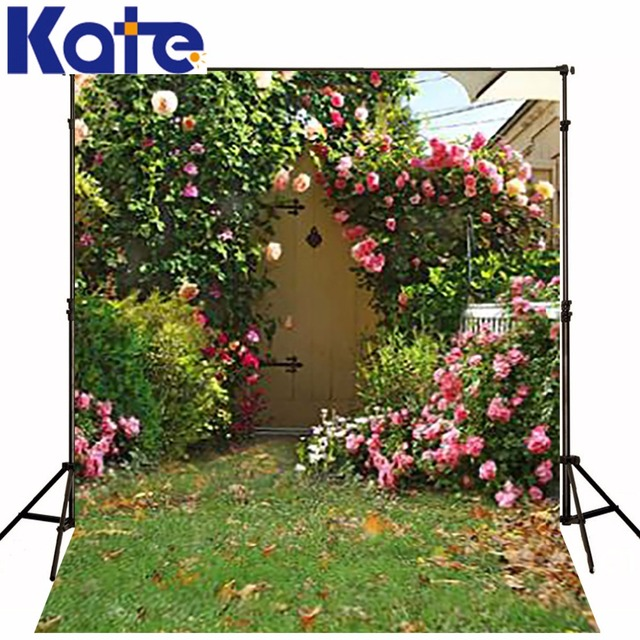 KATE Photo Backdrop Garden Rustic Flower Wall Wedding Background Vintage For Studio