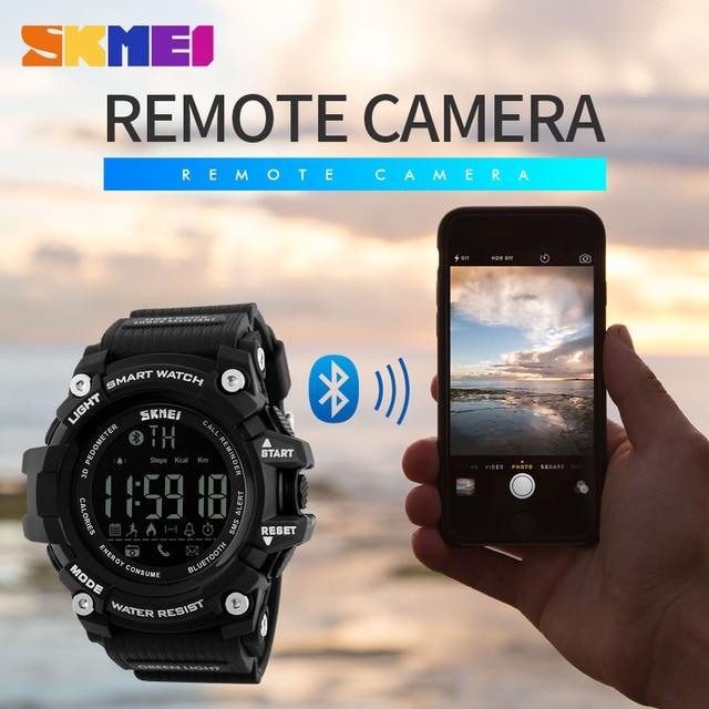 SKMEI бренд Мужчины цифровые наручные часы Смарт часы большой циферблат модные уличные спортивные Часы el Подсветка Водонепроницаемый человек часы 1227