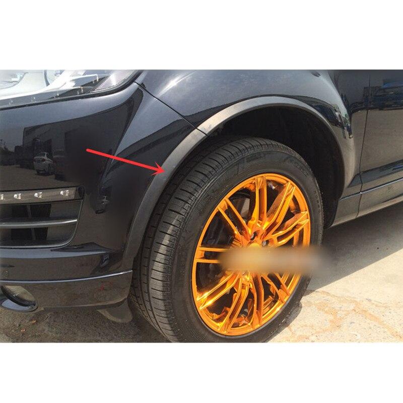 Car styling!10pcs Plastic Set Wheel Arch Fender Flares Cover Trim For Audi Q7 2008 2015