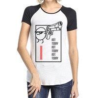 Woman Nope Not Today Lazy Day Sassy Attitude Round Neck Raglan Short Shirts Tee Cotton Raglan