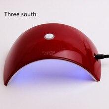 THREE SOUTH lamp for nails SUNQ18 36W 18 LEDS UV LED Lamp Nail Fingernail Nail Dryer for acrylic nail kit with uv lamp Uf lamp