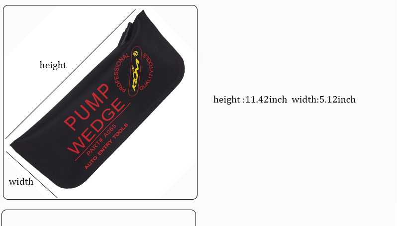 Black Klom Air Pump Wedge Airbag Tools Locksmith Car Door Lock Pick Set