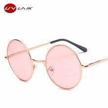 008d8dbc8f UVLAIK Pink Sunglasses Harry Potter Hippie Women Men Round Metal Female Male