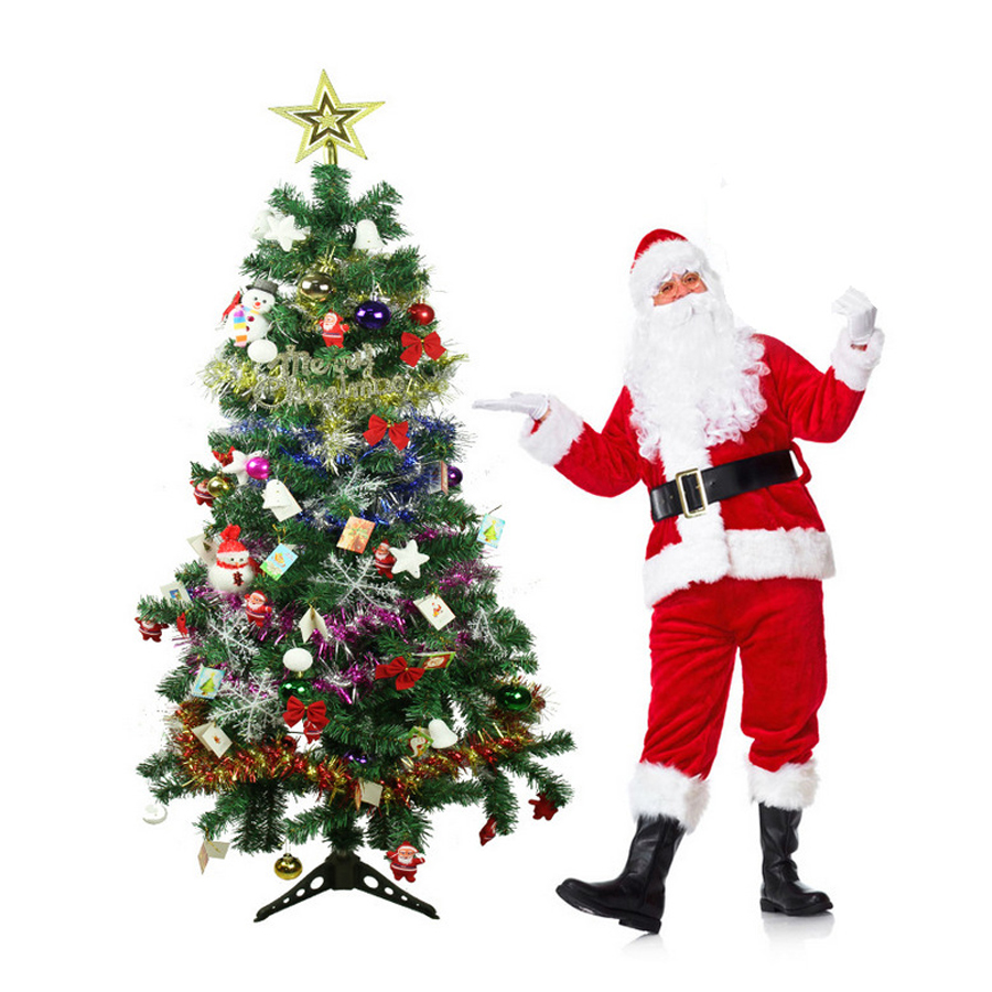 Factory directly supply 1.5M Christmas Tree led strip Glow Package Christmas Gift Tree Christmas decorations for home 2017 sale real christmas tree christmas gift christmas decorations for home new blue festival wedding hotel led light h003 2
