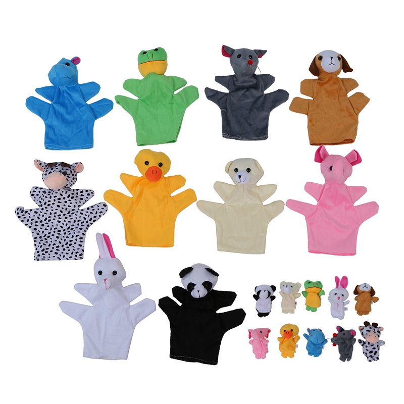 10 pcs. Hand finger puppet set