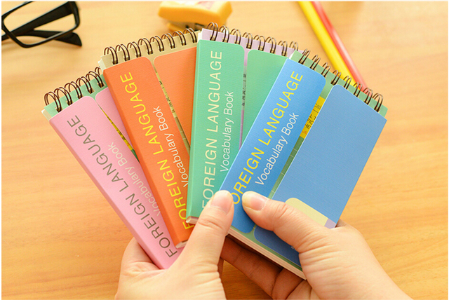 English blank word cards portable small notebook English training ...