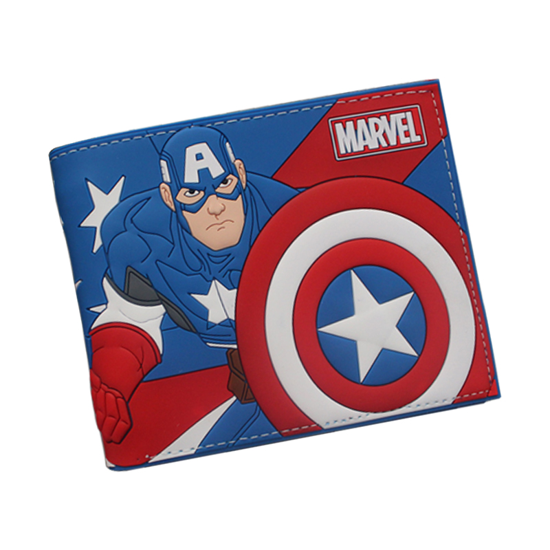 Newest 2016 Anime Cartoon Wallets Cute CAPTAIN AMERICA Wallet Bifold For Teenager Boy Girl Star Wars Deadpool Pokemon Wallets anime cartoon wallets bifold game pokemon go pikachu wallet for teenager women men pocket monster purse coin purses holders