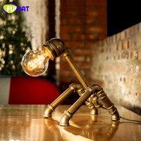 FUMAT Loft Industrial Water Pipe Desk Lamp Vintage Bedside Table Lamps For Living Room Bedroom Home Decor Desk Lamp Luminaria