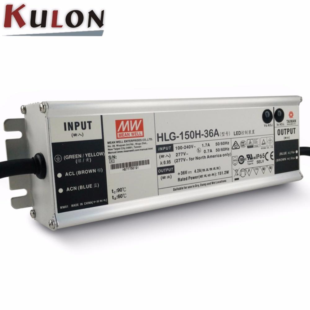 Alimentation d'origine moyenne bien 36 V HLG-150H-36A 150 W 4.2A 36 V alimentation LED conducteur de LED réglable