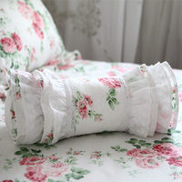 New decorative pillow European style embroidered candy cushion princess ruffle pillows ( include filler)