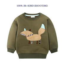 children's clothing child baby boys winter plus velvet thickening deer fleece Sweater basic shirt boys outerwear