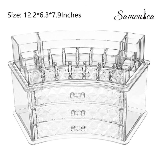 Acrylic Pattern Multi-function Jewelry Box Lipstick Nail Eyebrow Pencil Organizer Cosmetic Storage Case Display Rack