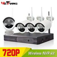 Wifi Camera Set NVR Camera Kit Plug Play P2P Smart Home Use HD 720P 20m Night